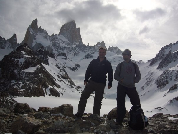 Tom climbing mountains in Argentina