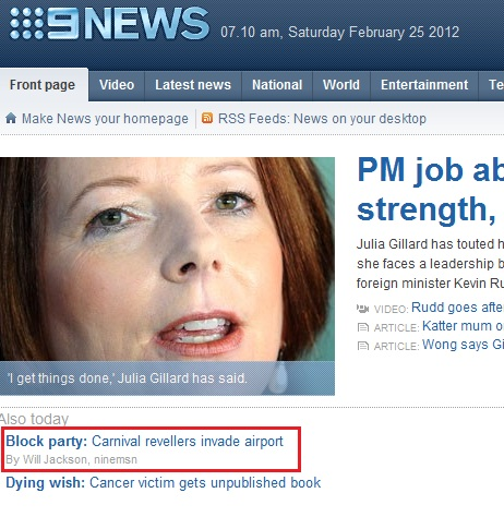 "Whatever Gillard - you may ""get things done"", but we invaded an airport! Think about it - I know who I'd vote for..."