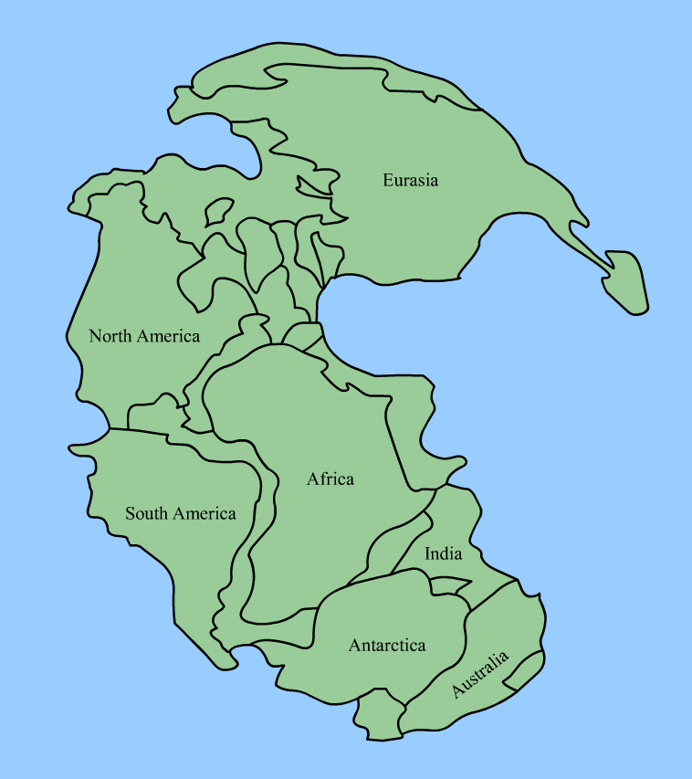 Pangea Maps Eatrionet - Pangaea map