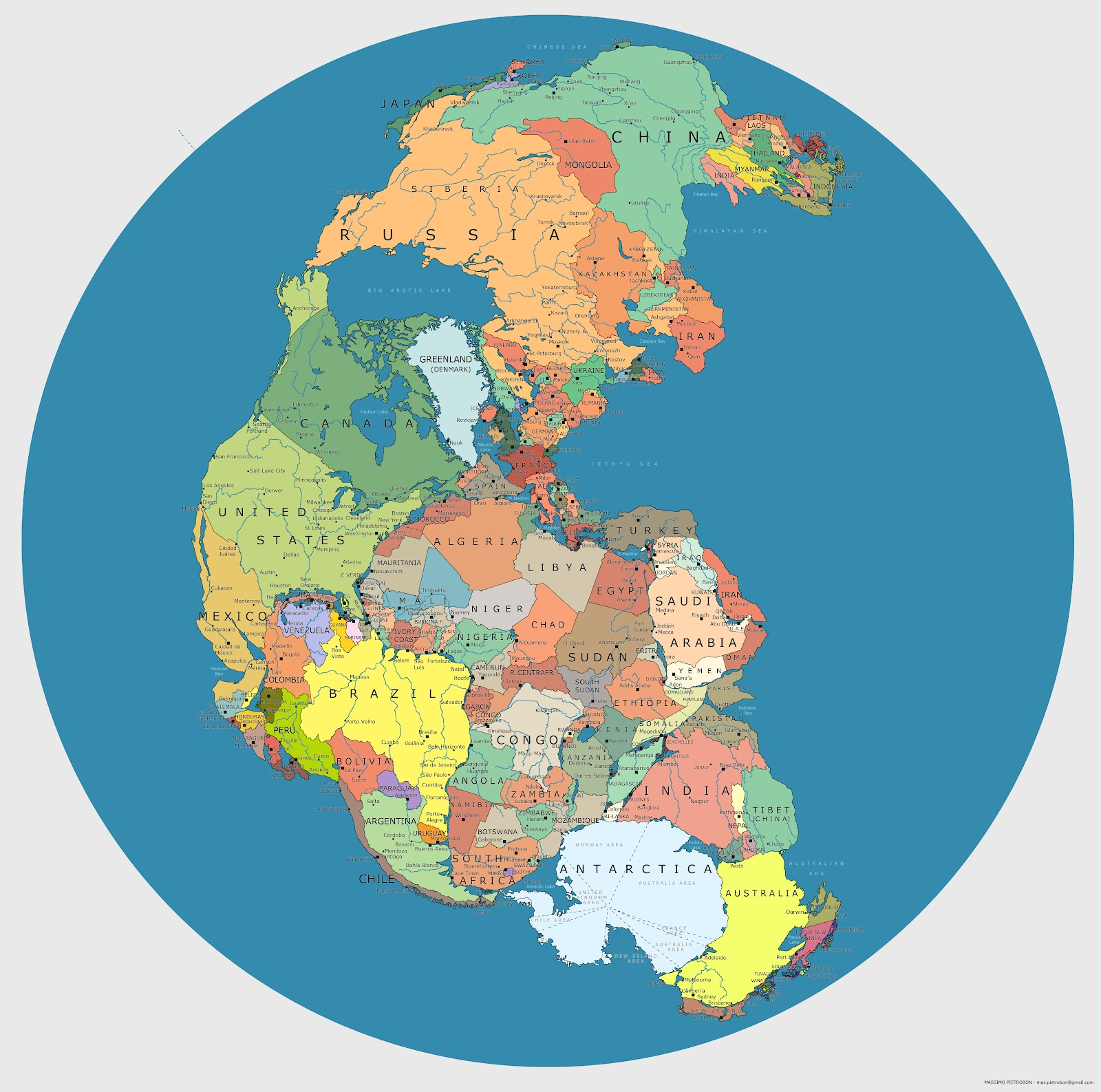 Maps That Will Help You Make Sense Of The World TwistedSifter - Map of the globe with countries